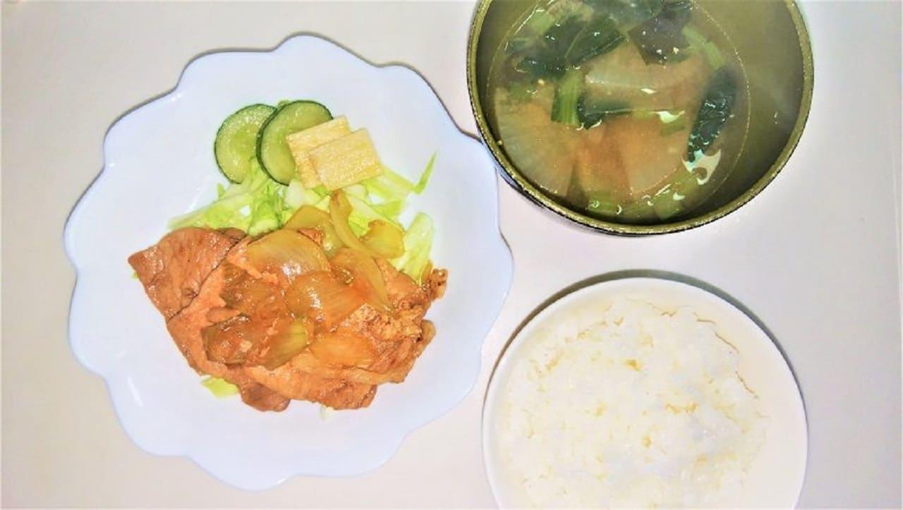 男の生姜焼き定食
