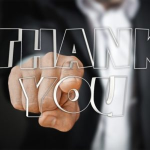お世話になりました。ありがとうございました。