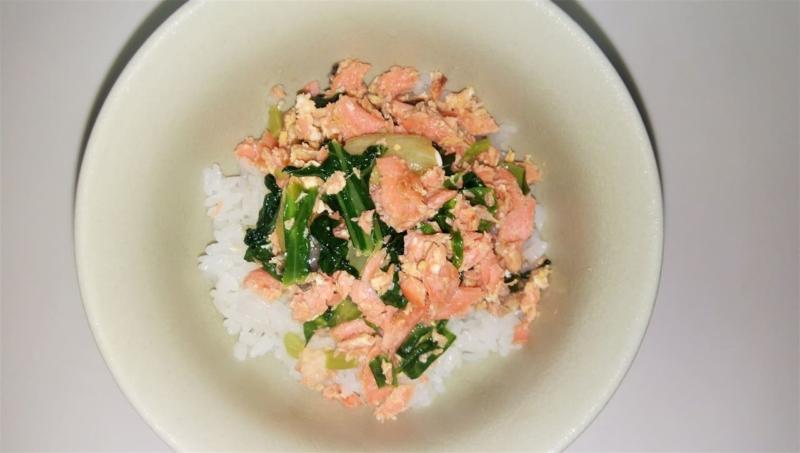 簡単手抜き鮭丼
