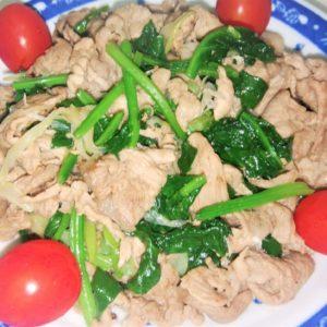 中華風の豚肉炒め