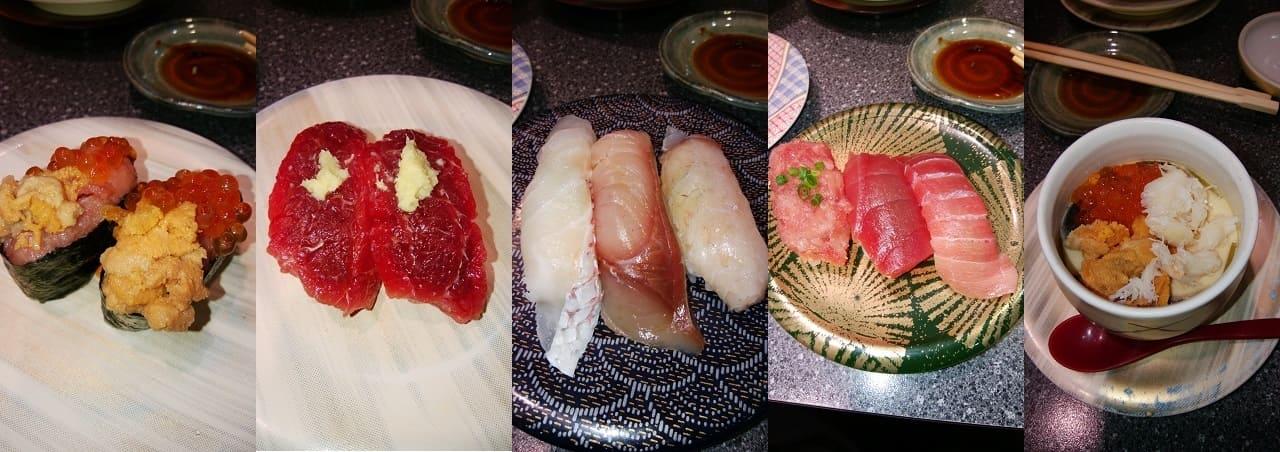 船主総本店の寿司いろいろ